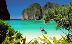Take an early-bird trip to Phi Phi Island from Phuket and avoid the afternoon crowds. Snorkel and swim in the crystal-clear waters of Maya Bay and Bamboo Island, and get up close to the marine life amid corals in the underwater world. Beautiful Islands, Beautiful Beaches, Beautiful Life, Best Places To Travel, Places To Visit, Isla Phi Phi, Maya Bay, Holiday Destinations, Travel Destinations