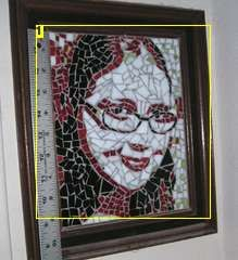 Glass mosaic portrait. Must try someday!