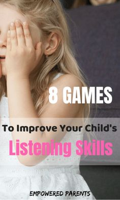 Listening is an important skill for success at school and in life. Play these simple, fun games and watch your child's listening and auditory perceptual skills improve over time. Listening Activities For Kids, Listening Games, Active Listening, Games For Toddlers, Listening Skills, Preschool Games, Toddler Activities, Teaching Kids, Kids Learning