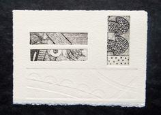 Collagraph Print - by Annwyn Dean 2014 Textile Prints, Art Prints, Engraving Printing, Collage Techniques, Collagraph, Mail Art, Letterpress, Collage Art, Art Lessons
