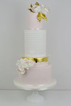 Rustic Gold wedding cake by Blossom Tree Cake Company, Harrogate, North Yorkshire