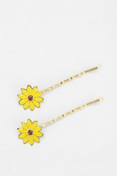 Diament Jewelry For Urban Renewal Sunflower Bobby Pin - Set of 2 #urbanoutfitters