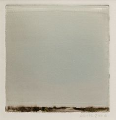 "Wendy Mark - HORIZON/BLUE 2, 7 1/4"" X 7"" MONOTYPE, 2006"