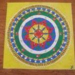 Mandala op canvas schilderen