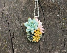 Check out Green Pink Succulent Necklace Pendant Wholesale Metal Basis Medallion Pendant Jewelry Succulent Wedding Bridal Birthday Accessory Gifts on eteniren