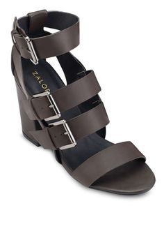 9352163c138 Block Heeled Sandals from ZALORA in brown 1 Brown Sandals