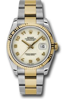 Rolex Oyster Perpetual Datejust 36mm - Steel and Gold Yellow Gold - Fluted Bezel - Oyster Watch 116233 ijao