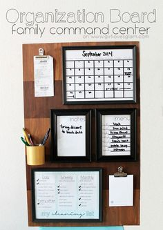 Organization Board Family Command Center tutorial on www.girllovesglam.com