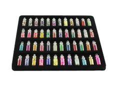 48 mini fioles remplies de micro billes, paillettes pour vos décorations ou nail art http://www.artgate.fr/verre-fioles-c-1635.html