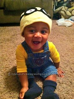 Coolest Homemade Baby Costume: Merry Minion Mischief… Online Halloween Costume Contest