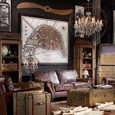 Timothy Oulton Globetrekker Single Bookcase- Vintage Stowage - Furniture