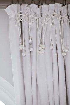 Lovely curtain detail.