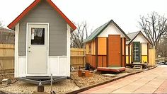 A tiny home village, built FOR the city's homeless, BY the city's homeless who will be living in the homes.