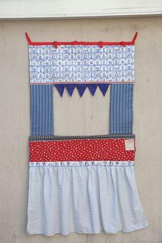 Doorway Puppet Theatre  Dutch and Vintage Fabrics  by birdandwhale