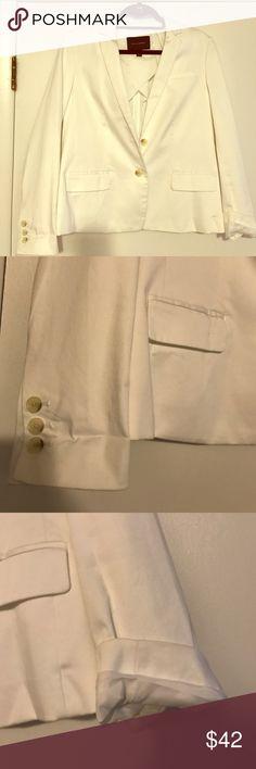 White banana Republic blazer worn once, Banana Republic blazer, can be cuffed Jackets & Coats Blazers