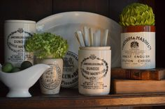 Antique and vintage crocks.