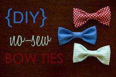 DIY Clothes DIY Refashion: DIY No-Sew Baby Bow Ties