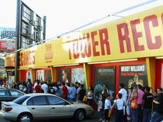 The last Tower Records closed its doors in but the store's founder is hoping to keep the legacy of the iconic music retailer alive. Vinyl Record Store, Vinyl Record Player, Vinyl Records, Sunset Strip, Old Signs, Record Collection, Tower Records, Vintage Photographs, Go Shopping