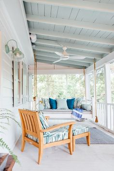 The Hippest Nautical Patio Décor Ideas to Try For a Better Backyard outdoors A shinny day and warm night approaches. It is time to enjoy it in your patio. But, wait a minute, is your patio going to waste? What do you have in yo. Farmhouse Shutters, Rustic Shutters, Repurposed Shutters, Diy Shutters, Enclosed Porches, Front Porches, Side Porch, Porch Paint, Beach House Decor