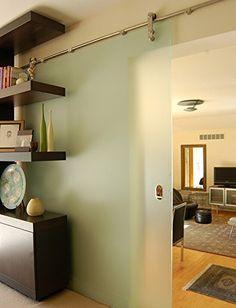 FSS GBD #in nichel satinato, in acciaio INOX spazzolato, stile moderno, in vetro Sus304 Barn Door Hardware-Binario scorrevole per la stanza, lavanderia, Master Walk-in bagno, ufficio, armadio, imposte, zone massima mobilità