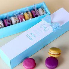 5 x Macaron boxes / Macaron Gift Boxes / Macaron Paper Boxes / Mint Macaron Boxes / Long Slider Gif Macaron Flavors, Macaron Recipe, Macaron Boxes, Vanilla Macarons, Paper Boxes, Wedding Party Favors, Note Paper, Homemade Chocolate, Gift Boxes