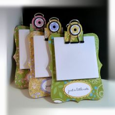 top note post it holder - great little gift idea