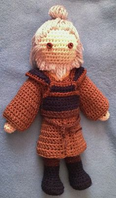 "Uncle Iroh - free ""Avatar, the Last Airbender inspired crochet pattern by Becky Ann Smith."