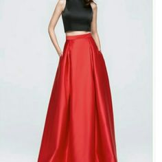 Beautiful Satin 2 Piece Dress. *Comment to order!* *Comment to order!*This dress features an A Line silhouette that is floor length, zip up back, fully lined with a built in bra and boning. This dress comes in the following sizes: 2,4,6,8,10,12,14 and 16.  Please inquire about sizes to ensure you are ordering the dress with the correct measurements. Also, please order 4-6 weeks before your event date to ensure you receive this beautiful dress on time! Gowns Dresses