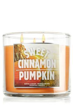 Sweet Cinnamon Pumpkin 14.5 oz. 3-Wick Candle - Slatkin & Co. - Bath & Body Works