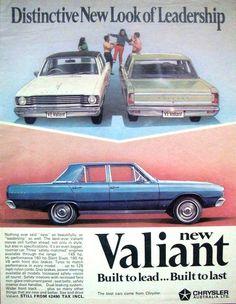 1968 VE Chrysler Valiant Sedan Models - Aussie Magazine Advertisement