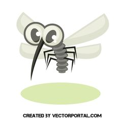 Mosquito cartoon vector graphic - Free vector image in AI and EPS format. Free Vector Images, Vector Free, Nature Vector, Cartoon Eyes, Adobe Illustrator Tutorials, Stencil Art, Free Illustrations, Public Domain, Vectors