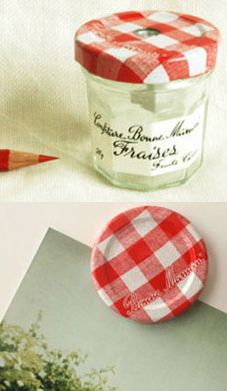 Heart Handmade UK: Using Bonne Maman Jars For Storage in the Craft Room