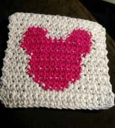 Square crochet pattern. Mickey Mouse. single crochet pattern only - not a finished product.