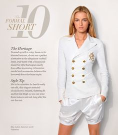 Ralph Lauren Top 10 Summer Style Guide for Women Ralph Lauren Style, Ralph Lauren Tops, Spring Shorts Outfits, Satin Shorts, Looks Street Style, Dressed To The Nines, White Outfits, Classy And Fabulous, Wholesale Clothing