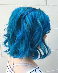 Blue hair color may seem strange for some we will prove that it can look so versatile and gorgeous even if you are not a teen. You can go full pastel blue or use it as an ombre color, blue hair is a great choice for a new, fresh and unique style. Related PostsWavy short …