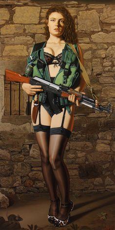 TERRORIST, 2014, oil on linen, 82x41cm. Painting by Sierk van Meeuwen