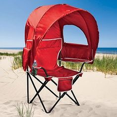 Camp Chair with Canopy. If I had this chair I might go to more of Matthews games.