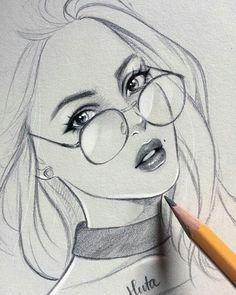 Fabulous Drawing On Creativity Ideas. Captivating Drawing On Creativity Ideas. Easy Pencil Drawings, Girly Drawings, Realistic Drawings, Pencil Drawings Of Nature, Nature Drawing, Girl Drawing Sketches, Girl Sketch, Drawing Ideas, Drawing Faces