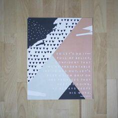 ENCOURAGEMENT ART | 8 x 10 | Go! Collection | Hebrews 10:22-23