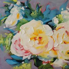"Daily Paintworks - ""Blooms #10"" Original Fine Art for Sale - © Rachel Dowd"