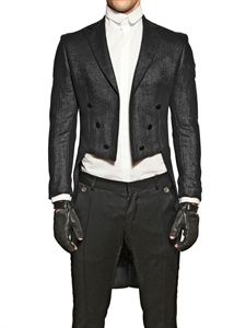 Karl Lagerfeld Black Tailcoat Jacket for men Karl Lagerfeld Men, Aesthetic Fashion, Goth Aesthetic, Mens Attire, Gothic Outfits, Fashion Essentials, Casual Wear, Formal Wear, Leather Gloves