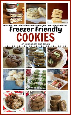Freezer Friendly Cookies Plan ahead for your next cookie swap, holiday party or family gathering! Make a few batches of cookies, freeze them and then enjoy them as desired! Freezable Cookies, Freezer Cookies, Freezer Desserts, Freezer Meals, Make Ahead Desserts, Yummy Cookies, Holiday Cookies, Holiday Treats, Holiday Recipes