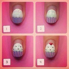 cupcake nail polish art