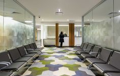 Bolon floor tiles in Lyell McEwin Hospital in Adelaide, Australia