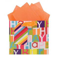 Happy Birthday Squares Celebration Gift Bags - Gift Bags
