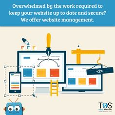 We'll run backups and keep your software up to date. Don't worry about all that technical stuff! Come build a website with us. #onlinemarketing #digitalmarketing #marketingonline #webdesign Online Marketing Services, Social Media Services, Seo Services, Building A Website, Don't Worry, Software, Web Design, Management