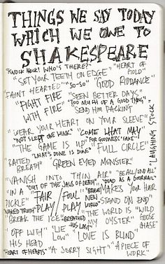 Shakespeare quotes in everyday speech.  Wow.  Didnt realize there are so many kamunger