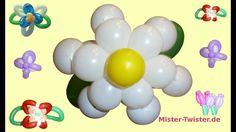 106  Balloon little Flower Daisy, Ballon kleine Blume Gänseblümchen, Modellierballon Ballonfiguren
