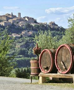 It's wine time in Montepulciano, Siena, Tuscany.