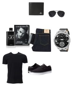 """set5"" by fatimazbanic ❤ liked on Polyvore featuring Giorgio Armani, Paul Smith, Lakai, Diesel, Vivienne Westwood, Bally, men's fashion and menswear"